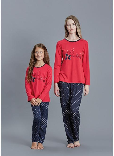 Dagi Kız Çocuk Pijama Takım Kırmızı